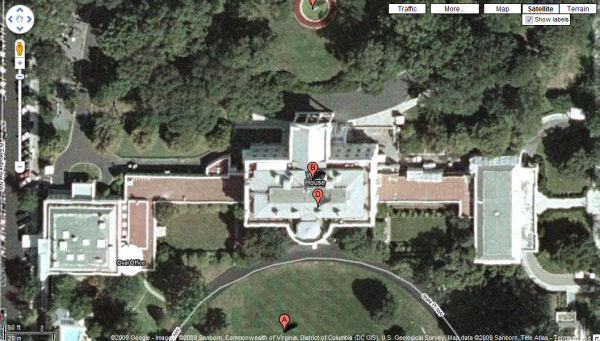 White House and VP's Residence now Visible on Google Maps ... on white house map floor, white house art projects, white house heckler, white house complex map, white house thanksgiving 2014, white house washington dc map, white house washington monument lincoln memorial, white house 6 floors, white house jumper, white house scaffolding, white house west wing, white house location state, white house drone crash, white house mosque, white house blue, white house obama living quarters, white house aliens, white house chief of executive, white house lighting, white house grounds map,